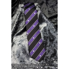 Transformers - Narrow Silk Neck Tie - Royal Crest Decepticon