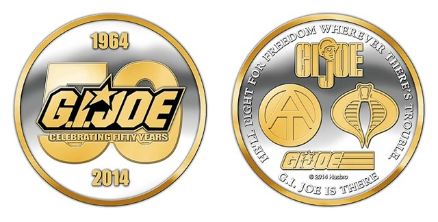 GI Joe - JoeCon 2014 - Silver and Gold Challenge Coin