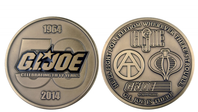 GI Joe - JoeCon 2014 - Brass Challenge Coin