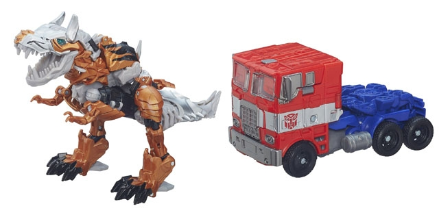 Transformers Age of Extinction - Voyager Series 1 - Optimus Prime & Grimlock Set