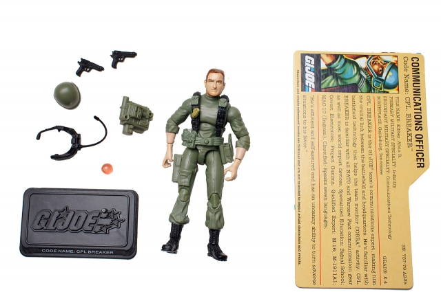 GI JOE - 25th Anniversary - CPL. Breaker - Comic Pack - Loose - 100% Complete