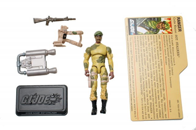 GIJoe - 25th Anniversary - Sgt. Stalker - DVD Battle Pack 1 - Loose 100% Complete