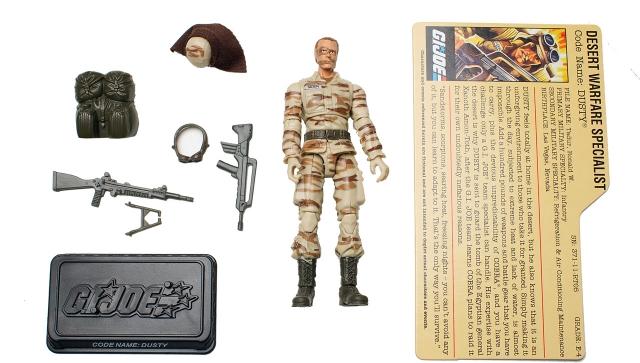 GI Joe - 25th Anniversary - Dusty - DVD Battle Pack 3 - Loose 100% Complete
