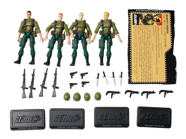 GI Joe - 25th Anniversary - GIJoe Troopers - Loose 100% Complete