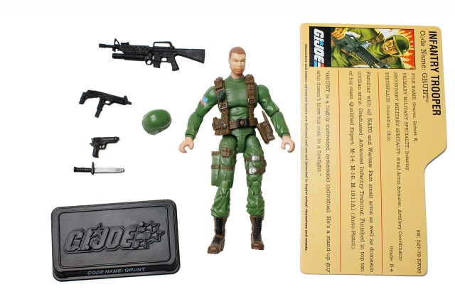 GI Joe - 25th Anniversary - Grunt - SRO Pack - Loose 100% Complete
