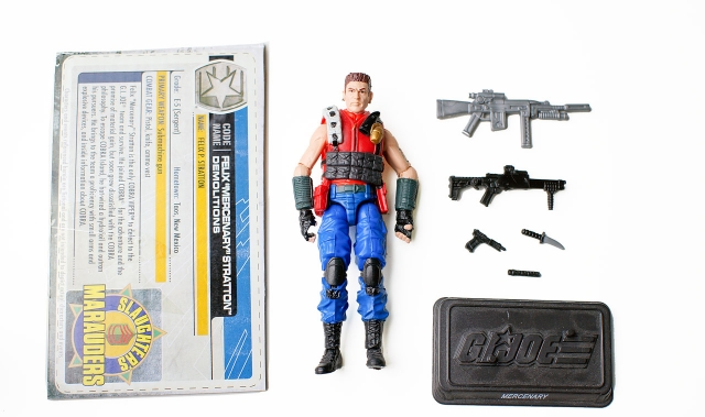 GIJoe - 30th Anniversary - Mercenary - Felix Stratton - Loose 100% Complete