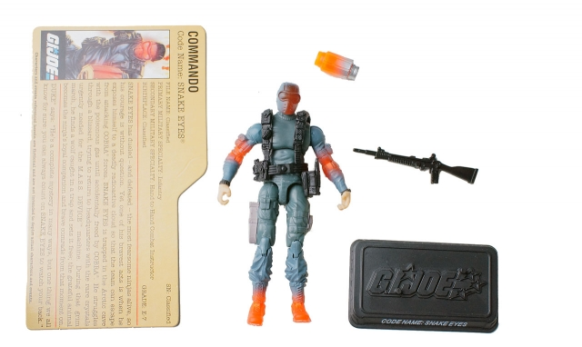 GIJoe - 25th Anniversary - Snake Eyes - DVD Battle Pack 1 - Loose