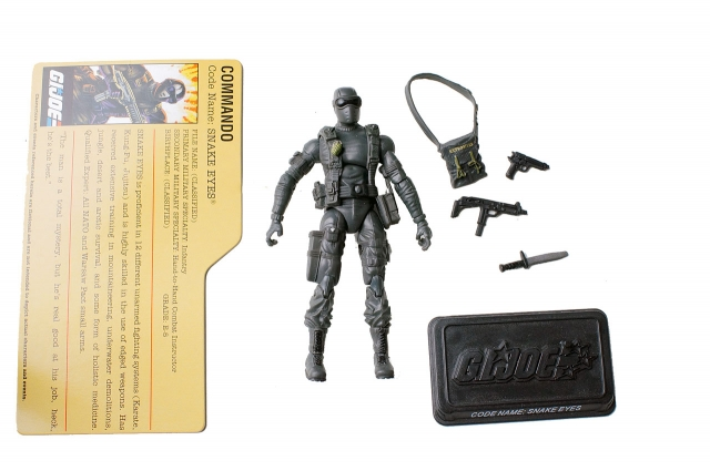 GIJoe - 25th Anniverary - Snake Eyes - GIJoe Battle Pack - Loose 100% Complete