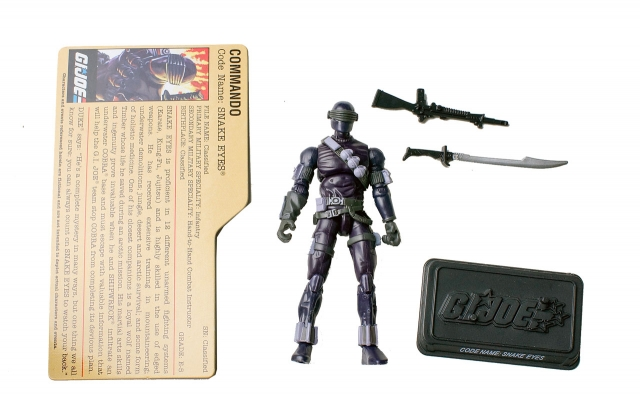 GIJoe - 25th Anniversary - Snake Eyes - DVD Battle Pack 4 - Loose 100% Complete