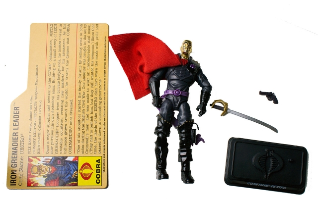 GIJoe - 25th Anniversary - Destro - Iron Grenadier - Loose 100% Complete