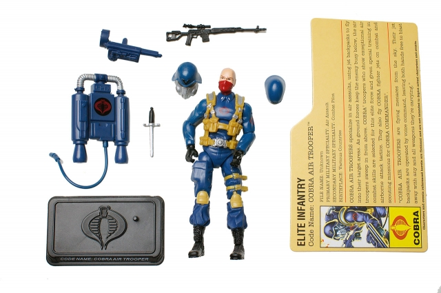 GIJoe - 25th Anniversary - Cobra Air Trooper - Loose 100% Complete