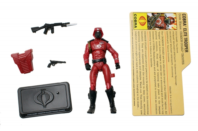 GIJoe - 25th Anniversary - Crimson Guard - SRO Pack - Loose 100% Complete