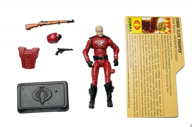 GIJoe - 25th Anniversary - Crimson Guard - Comic Pack - Loose 100% Complete