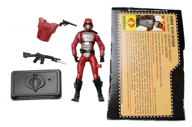 GIJoe - 25th Anniversary - Crimson Guard Squad Leader - Loose 100% Complete
