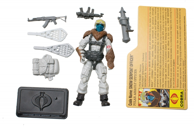 GIJoe - 25th Anniversary - Snow Serpent Officer - Arctic Assault - Loose 100% Complete