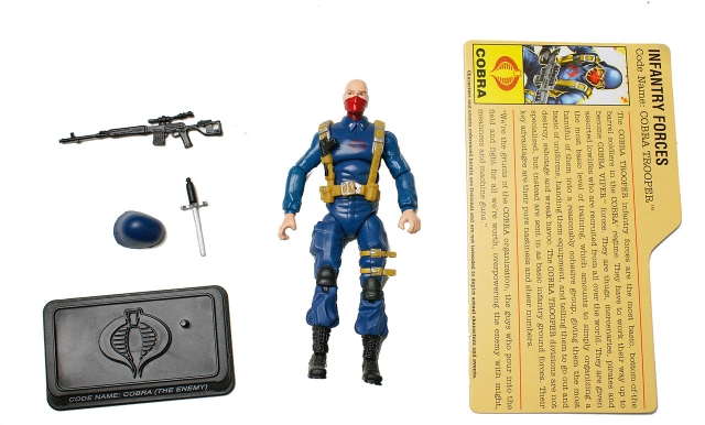 GIJoe - 25th Anniversary - Cobra Trooper - Cobra Legions pack - Loose 100% Complete