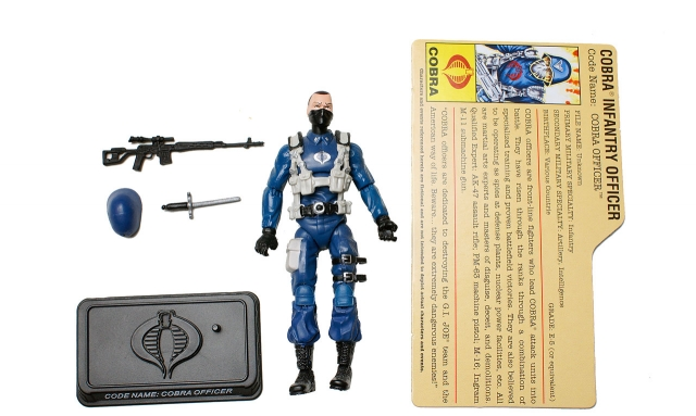 GIJoe - 25th Anniversary - Cobra Officer - SRO Pack - Loose 100% Complete