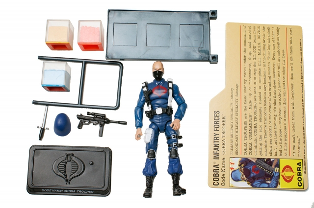 GIJoe - 25th Anniversary - Cobra Trooper - DVD Battle Pack 1 - Loose 100% Complete