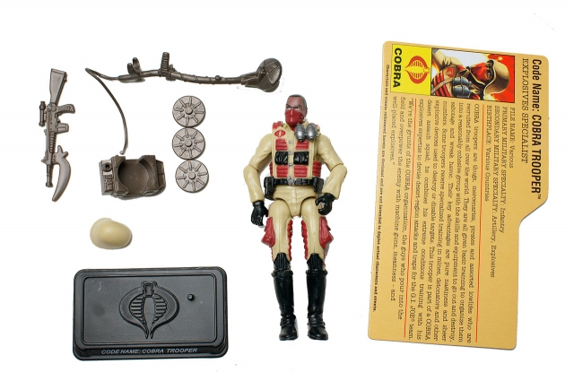 GIJoe - 25th Anniversary - Cobra Trooper - Explosives Specialist - Loose 100% Complete