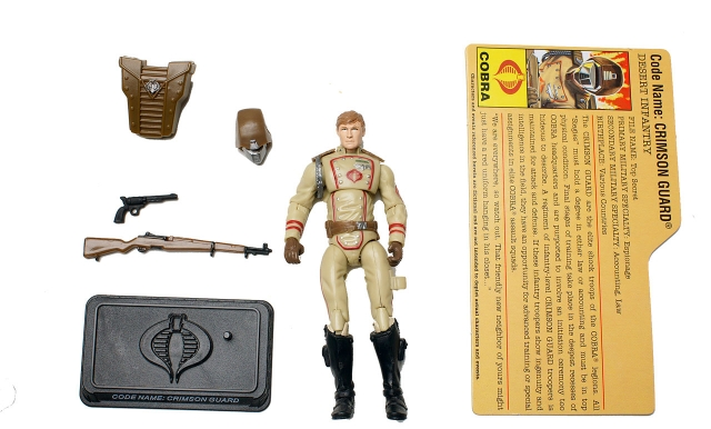 GIJoe - 25th Anniversary - Crimson Guard - Desert Assault Squad - Loose 100% Complete