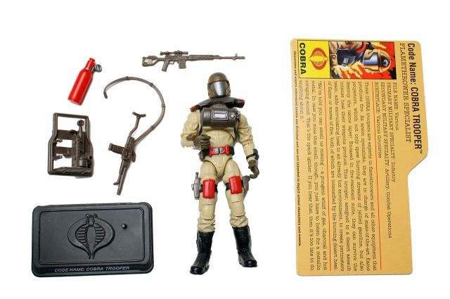 GIJoe - 25th Anniversary - Cobra Trooper - Flamethrower Specialist - Loose 100% Complete