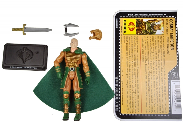 GIJoe - 25th Anniversary - Serpentor - Loose 100% Complete