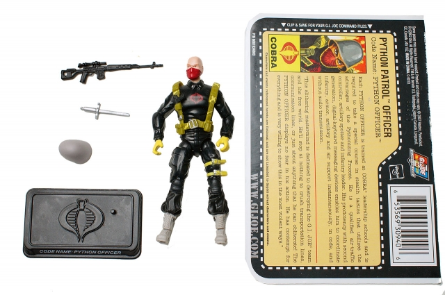 GIJoe - 25th Anniversary - Python Patrol Officer - Loose 100% Complete