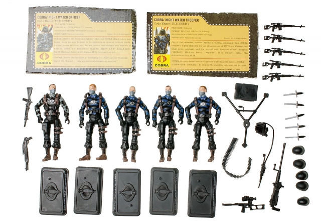 GIJoe - 25th Anniversary - Cobra Night Watch Troopers - Loose 100% Complete