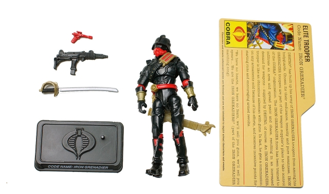 GIJoe - 25th Anniversary - Iron Grenadier Officer - Loose 100% Complete