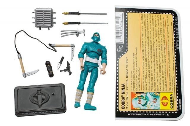 GIJoe - 25th Anniversary - Cobra Ninja Viper - Loose 100% Complete