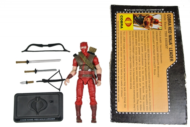 GIJoe - 25th Anniversary - Red Ninja Leader - Loose 100% Complete