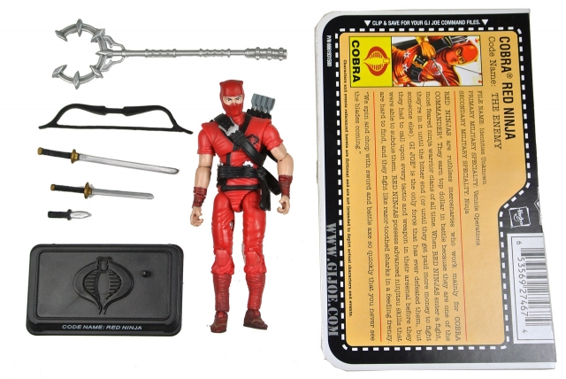 GIJoe - 25th Anniversary - Red Ninja - Loose 100% Complete