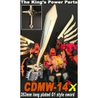 CDMW-14X - The King's Power Parts - Giant Chrome Plated Sword G1 Style for Feral Rex