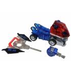 Japanese Transformers Animated - Wingblade Optimus Prime - Loose - Missing battle armor