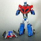 Transformers Animated - Voyager Class - Earth Mode Optimus Prime - Loose - 100% Complete
