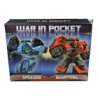 War in Pocket - X01 Speedoo & X02 Guartinel Set of 2 - MIB - 100% Complete