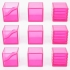 KFC - KP-15 E-Nergeon Cube - Pink Set of 9