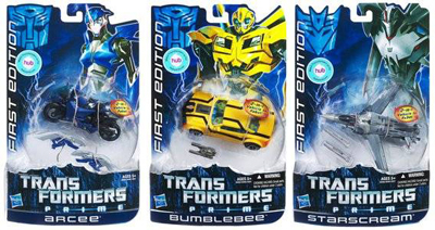 Transformers Prime Deluxe Series 01 - Set of 3 - First Edition