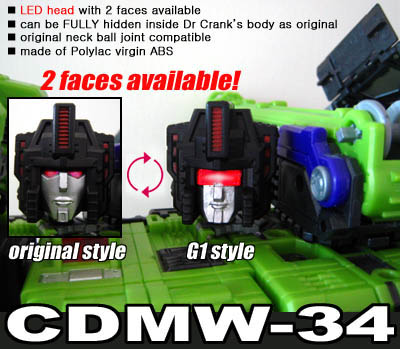 CDMW-34 Construction Brigade Power Parts - LED Head with 2 Faces