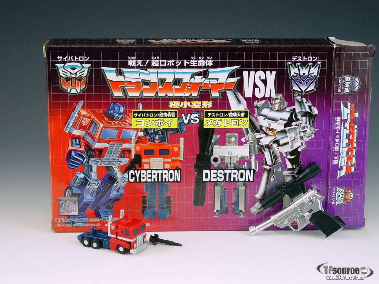World's Smallest Transformers  - Convoy vs Megatron - MIB - 100% Complete