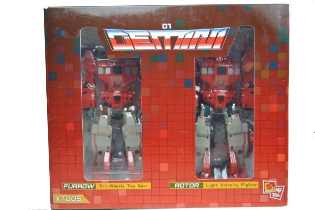 X2 Toys - XT005 Gemini Set of Furrow & Rotor - MIB - 100% Complete
