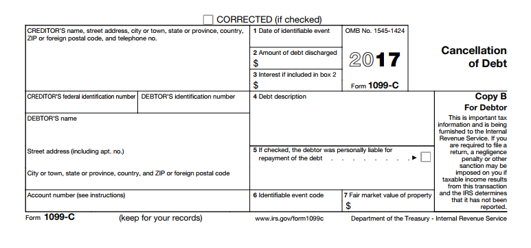 Form 1099-C - Cancellation of Debt. Understanding Form You Might Need for Your US Tax Return