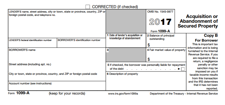 Form 1099-A - Acquisition Or Abandonment Of Secured Property. Understanding Form You Might Need for Your US Tax Return
