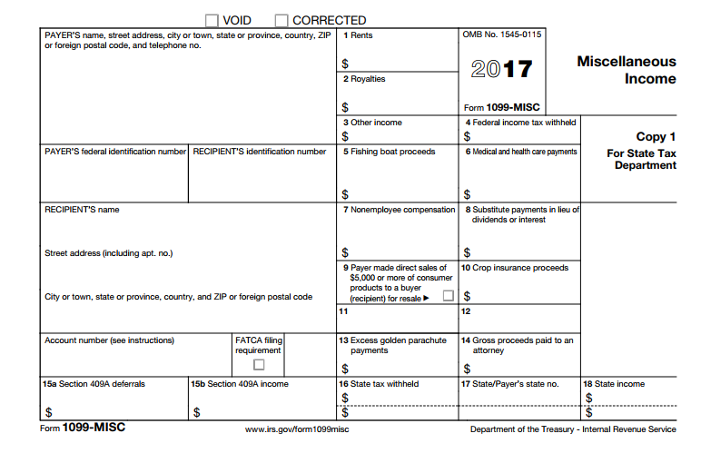 Miscellaneous Income Form 1099 Misc What Is It Do You Need It