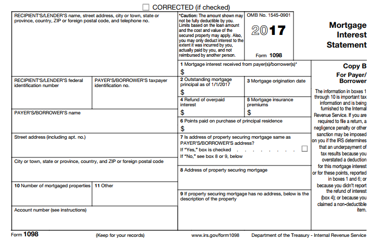 Form 1098 - Mortgage Interest Statement. Understanding Form You Might Need for Your US Tax Return