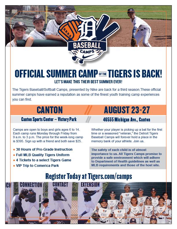 Tigers Baseball Summer Camp