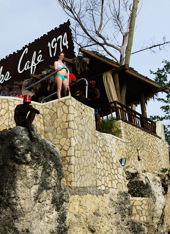 Cliff Diving Rick's Cafe Negril Jamaica | That Redhead