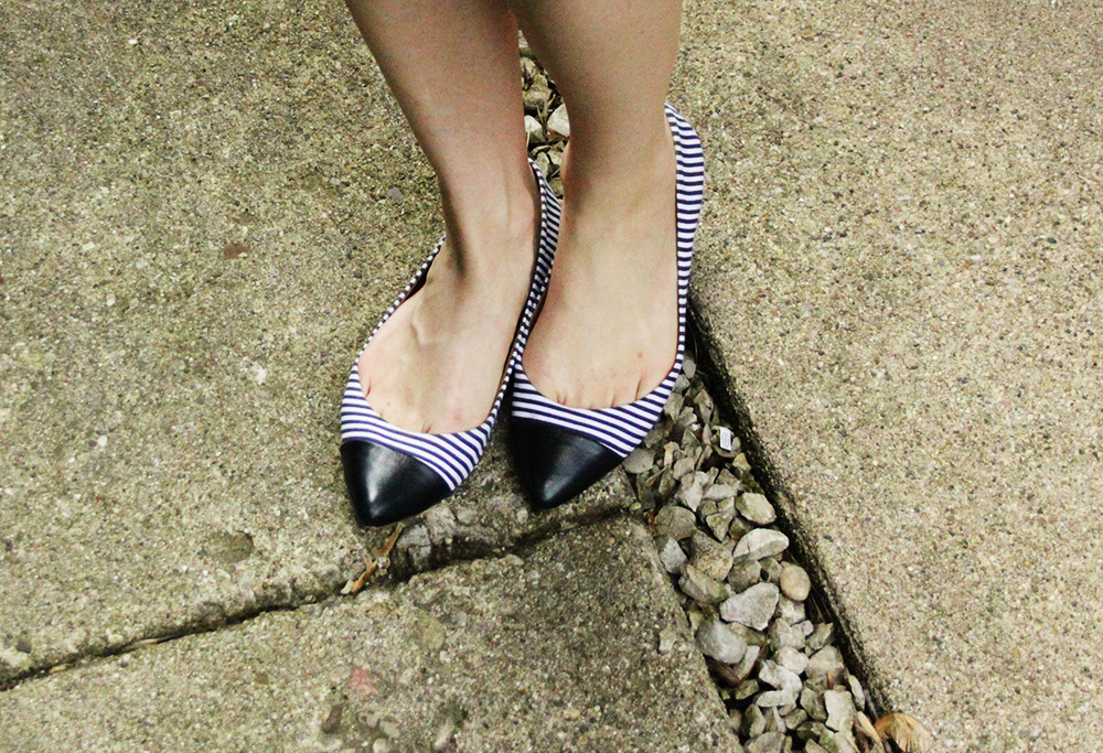 Striped flats from Banana Republic.
