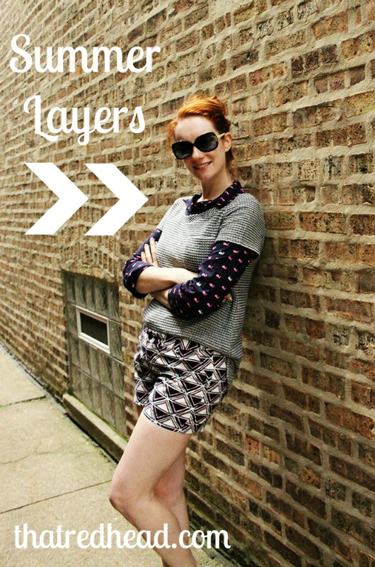 Smart summer layering for chilly nights and lakeside fun with That Redhead.