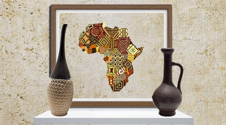 african decor wall prints for cheap - African Decor